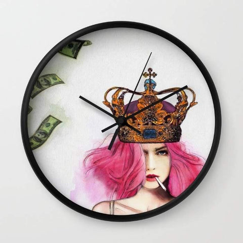 Dany Designs Wall Clock Queen Bitch Wall clock