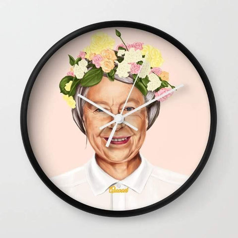 Dany Designs Wall Clock Queen Elizabeth Wall clock