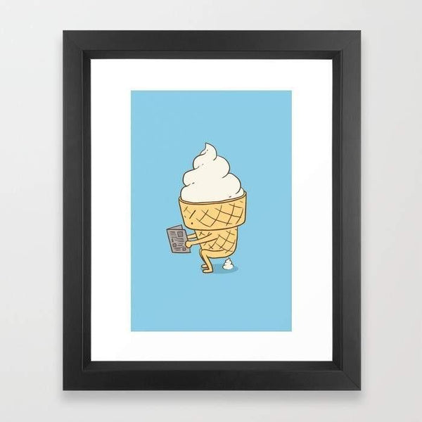 Deny Designs Framed Art Prints Everyone Poops (Blue) Frame