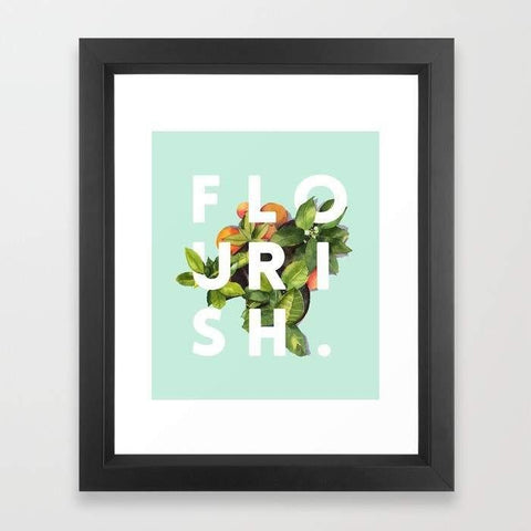 Deny Designs Framed Art Prints Flourish Frame