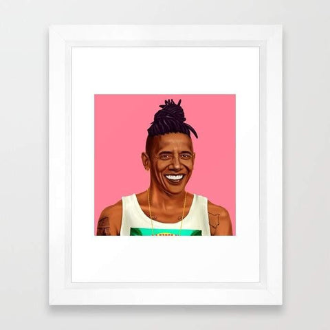 Deny Designs Framed Art Prints Hipstory - Barack Obama
