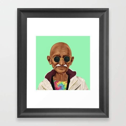 Deny Designs Framed Art Prints Mahatma Gandhi