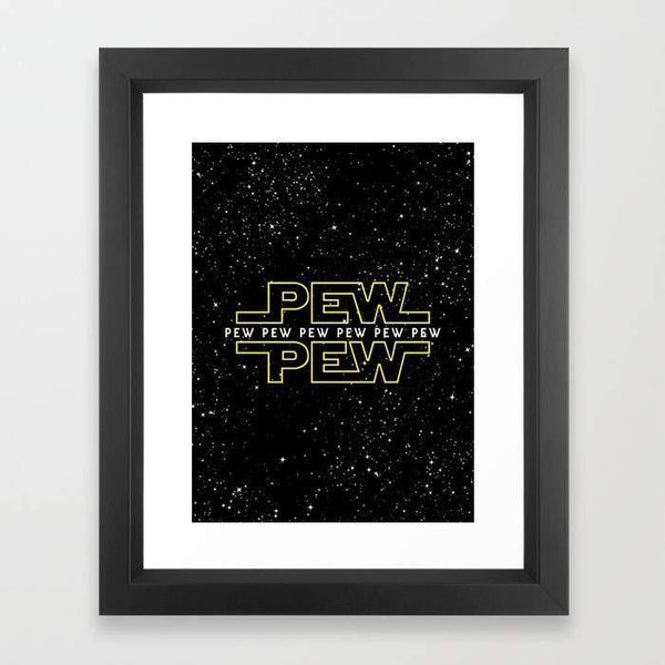 Deny Designs Framed Art Prints Pew Pew