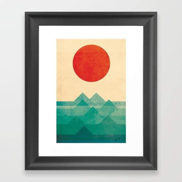 Deny Designs Framed Art Prints The ocean, the sea, the wave