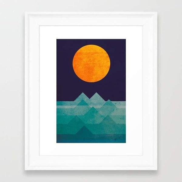 Deny Designs Framed Art Prints The ocean, the sea, the wave - night scene