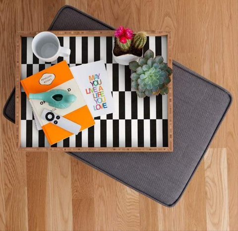 Deny Designs Trays Black And White Tray