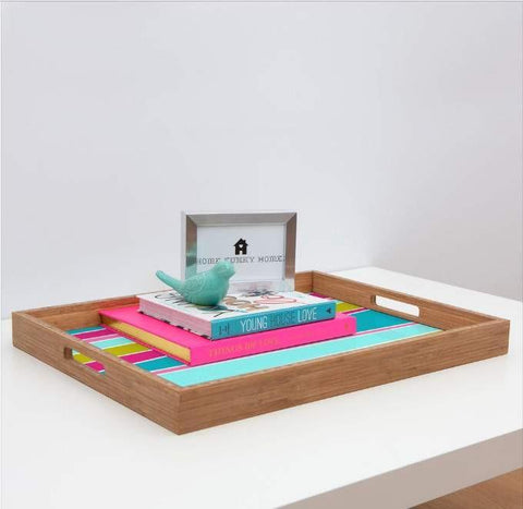 Deny Designs Trays Colorful Stripes Tray