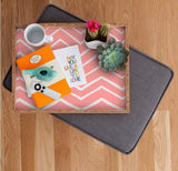 Deny Designs Trays Distressed Chevron Light Salmon Pink Tray