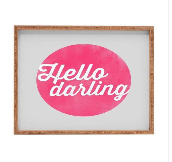 Deny Designs Trays Hello Darling Tray