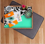 Deny Designs Trays Leopard And Mint Tray