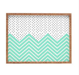Deny Designs Trays Minty Chevron And Dots Tray