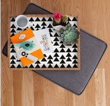 Deny Designs Trays Triangles Black Tray