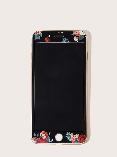 Emma Accessories Electronics 7p/8p Flower Pattern Tempered Glass Screen Protector