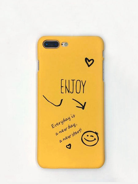 Emma Accessories Electronics iPhoneX Letter Print iPhone Case