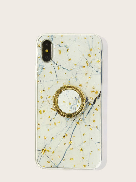 Emma Accessories Electronics iPhoneX Marble Pattern iPhone Case With Phone Holder 2pcs