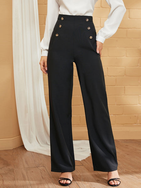 Emma Clothing Women M Double Breasted High Waist Tailored Pants