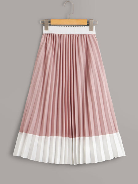 Emma Clothing Women M Two Tone Pleated Skirt