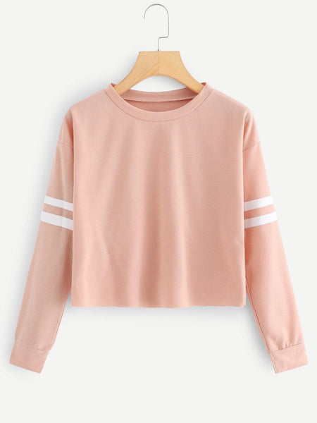 Emma Clothing Women M Varsity Striped Sweatshirt