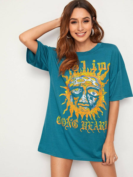 Emma Clothing Women S Abstract Sun Print Tee