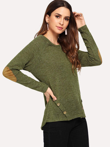 Emma Clothing Women S Button Decoration Solid Sweater