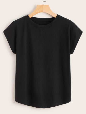 Emma Clothing Women S Cap Sleeve Solid Tee
