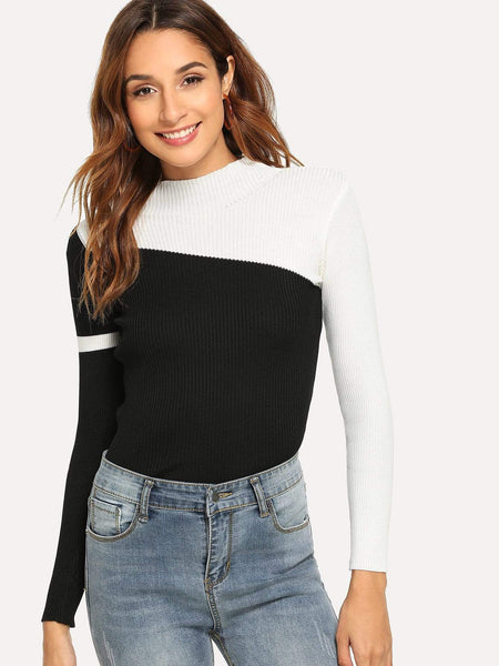 Emma Clothing Women S Color Block Sweater