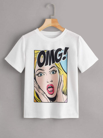 Emma Clothing Women S Comic Print Tee