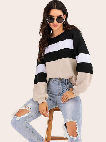 Emma Clothing Women S Cut And Sew Drop Shoulder Sweater