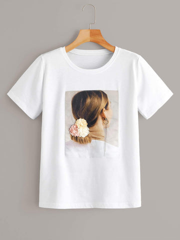 Emma Clothing Women S Figure Graphic Appliques Tee