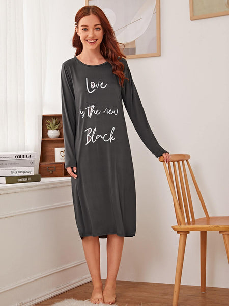 Emma Clothing Women S Letter Graphic Night Dress