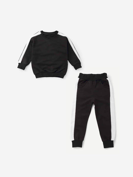 Emma Kids Kids 110 Toddler Boys Contrast Tape Side Top With Pants