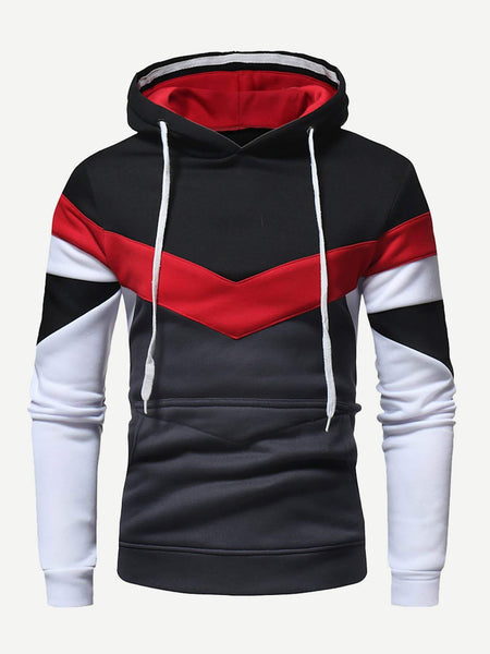 Emma Men Men XL Men Color Block Hoodie