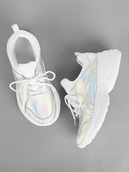 Emma Shoes Women EUR39 Iridescent Lace-up Chunky Sneakers