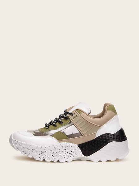 Emma Shoes Women EUR41 Color-block Chunky Sole Sneakers