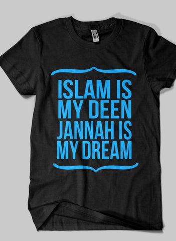 Fahad Khan T-shirt SMALL / Black DEEN & JANNAH Islamic Half Sleeves T-shirt