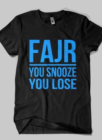 Fahad Khan T-shirt SMALL / Black FAJR Islamic Half Sleeves T-shirt