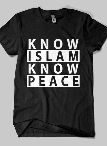 Fahad Khan T-shirt SMALL / Black Know Islam Islamic Half Sleeves T-shirt