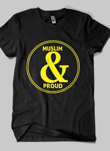 Fahad Khan T-shirt SMALL / Black Muslim & Proud Islamic Half Sleeves T-shirt