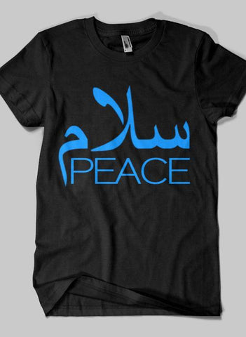 Fahad Khan T-shirt SMALL / Black SALAM PEACE Islamic Half Sleeves T-shirt