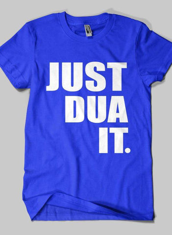Fahad Khan T-shirt SMALL / Blue JUST DUA IT Islamic Half Sleeves T-shirt