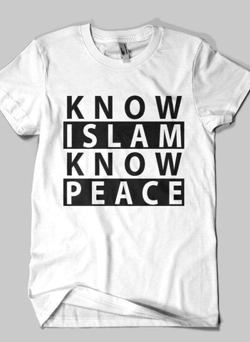 Fahad Khan T-shirt SMALL / White Know Islam Islamic Half Sleeves T-shirt