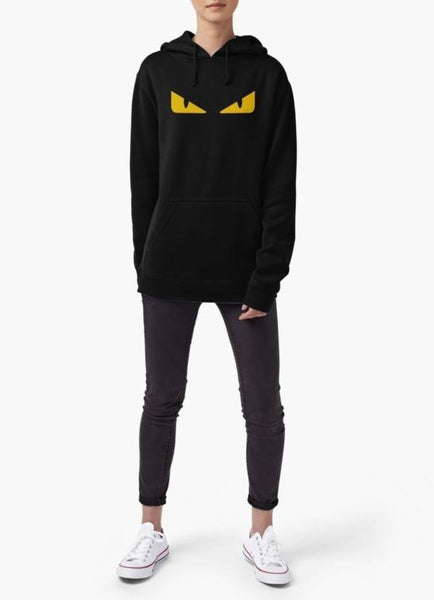 Farhan Ahmed Sweat Shirt Fendi monster eye WOMEN HOODIE BLACK