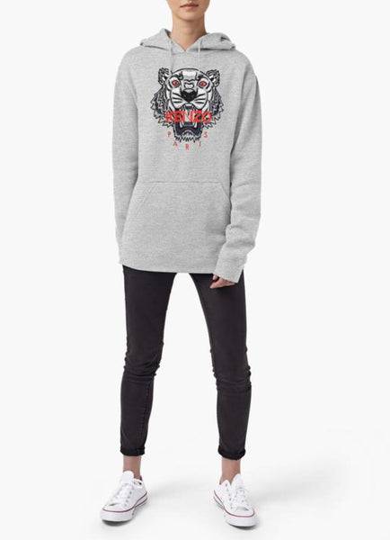 Farhan Ahmed Sweat Shirt Kenzo tiger WOMEN HOODIE GRAY