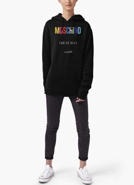 Farhan Ahmed Sweat Shirt Moschino WOMEN HOODIE BLACK