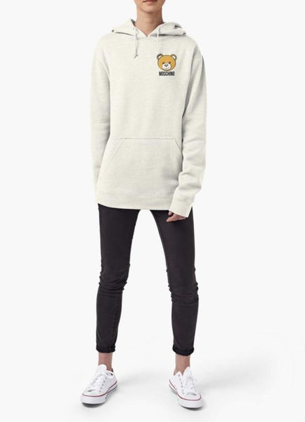 Farhan Ahmed Sweat Shirt Moschino WOMEN HOODIE GRAY