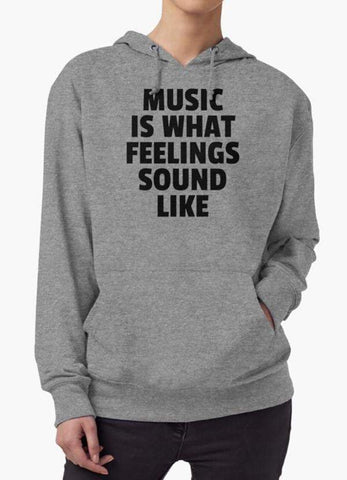 Farhan Ahmed Sweat Shirt MUSIC IS WHAT? Hoodie
