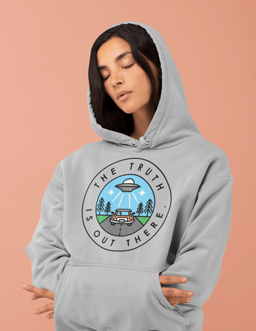 Farhan Ahmed Sweat Shirt The Truth Is Out There  Women Hoodie Grey