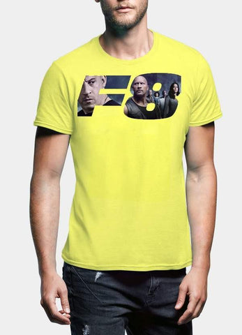FAST AND FURIOUS T-SHIRT F8 LOGO Printed Tshirt