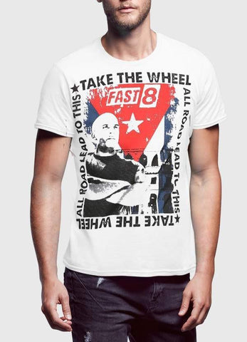 FAST AND FURIOUS T-SHIRT TAKE THE WHEEL Halff Sleeves Tshirt
