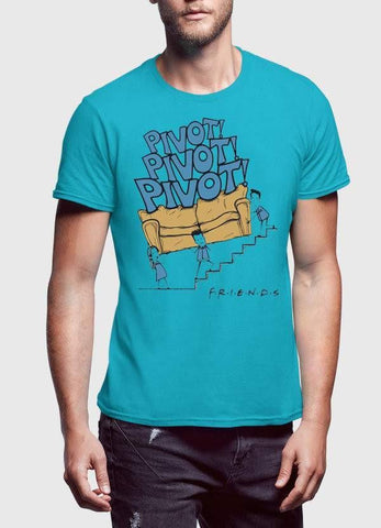 FRIENDS T-SHIRT FRIENDS PIVOT HALF SLEEVES PRINTED TSHIRT